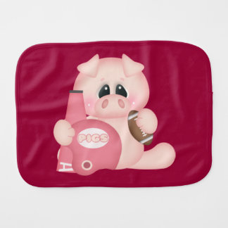 Football Piggy Burp Cloth