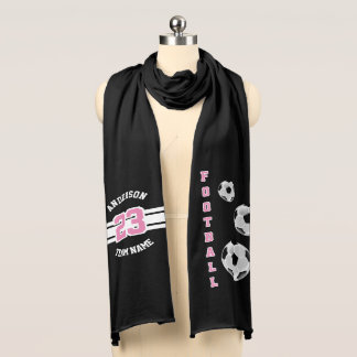 Football Pink Letter Personalize Scarf