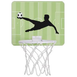 Football pitch mini basketball hoop