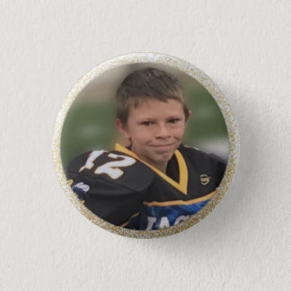 Football Player Add Own Photo 1 Inch Round Button