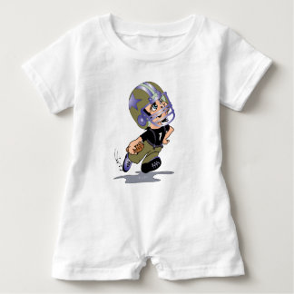 FOOTBALL PLAYER BABY CUTE Baby Romper