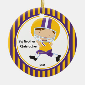 Football Player Big Brother Christmas Ornament