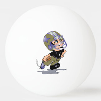 FOOTBALL PLAYER CARTOON BALL OF PING PONG