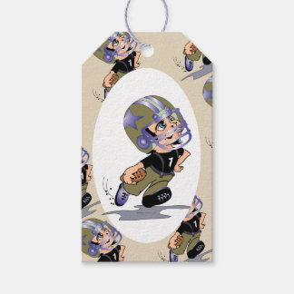 FOOTBALL PLAYER  GIFT TAG MATTE