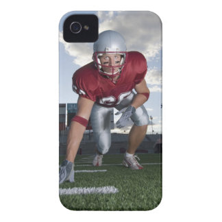 Football player in game stance iPhone 4 Case-Mate cases