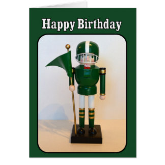 Football Player Nutcracker Happy Birthday Card