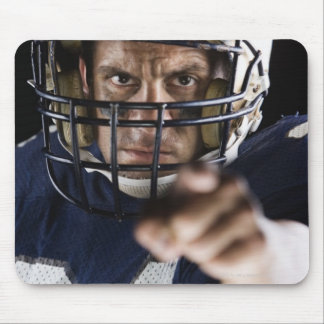 Football player pointing and looking intense mouse pad