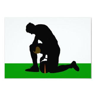 "football player silhouette 3.5"" x 5"" invitation card"