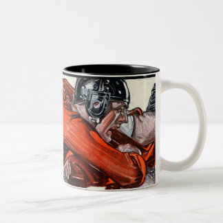Football Players Two-Tone Coffee Mug
