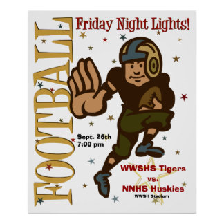 Football Poster Template - Friday Night Lights