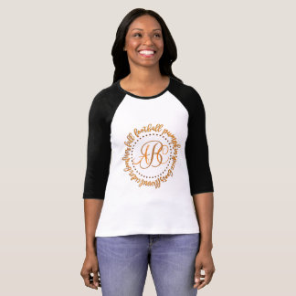 Football Pumpkin Spice Fall Cider Monogram Shirt