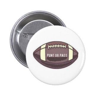 FOOTBALL - PUNT OR PASS GRAPHIC PRINT BUTTONS