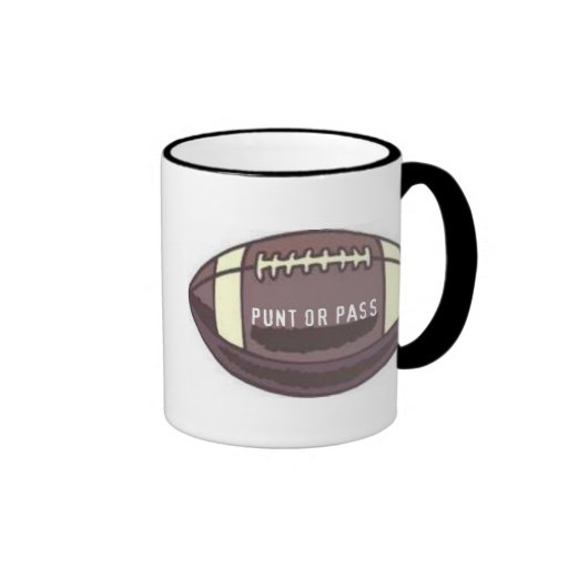 FOOTBALL - PUNT OR PASS GRAPHIC PRINT COFFEE MUGS
