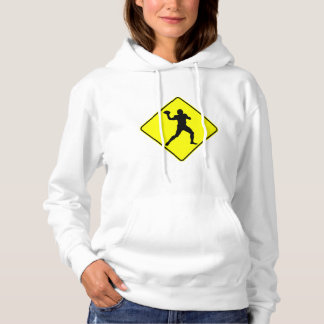 Football Quarterback Crossing Hoodie