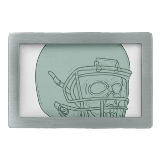 Football Quarterback Skull Drawing Belt Buckles