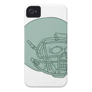 Football Quarterback Skull Drawing Case-Mate iPhone 4 Case