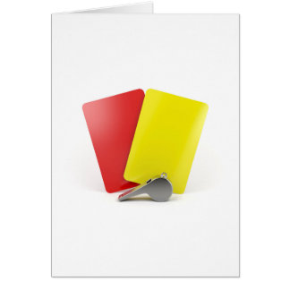 Football referee attributes card