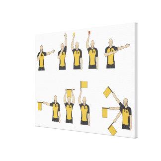 Football referees' signals canvas print