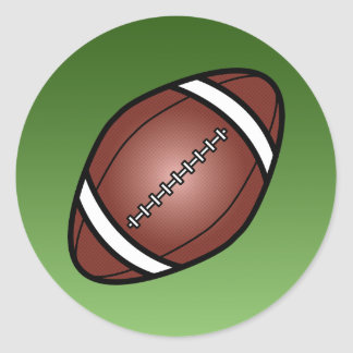 Football Rugby Ball Classic Round Sticker