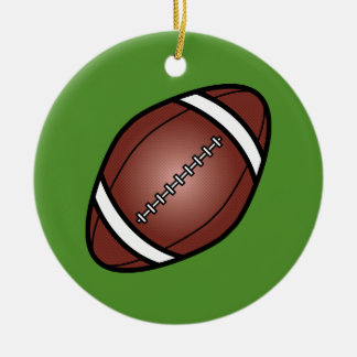 Football Rugby Ball Round Ceramic Ornament