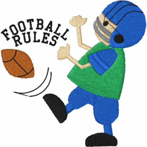 Football Rules Embroidered Shirt