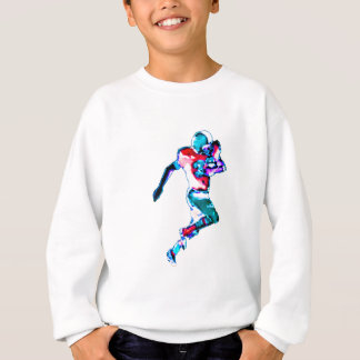Football Runner Cyan Transp jGibney The MUSEUM Zaz Sweatshirt