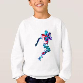 Football Runner Cyan Transp jGibney The MUSEUM Zaz Tee Shirt