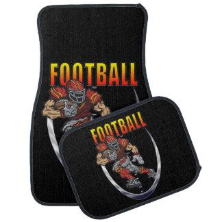 Football running back car mat