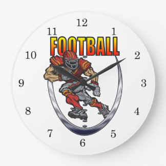 Football running back large clock