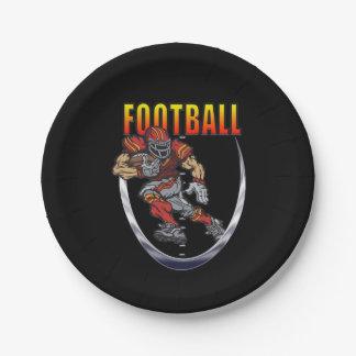 Football running back paper plate