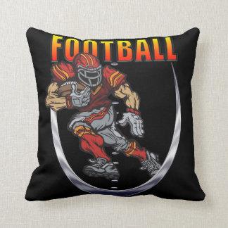 Football running back throw pillow