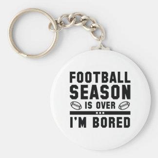 Football Season Is Over Basic Round Button Keychain