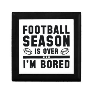 Football Season Is Over Jewelry Boxes