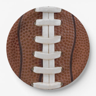 Football 9 Inch Paper Plate