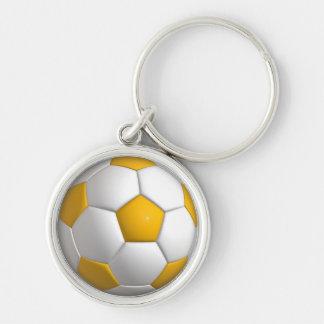 """Football Small (1.44"""") Premium Round Keychain"""