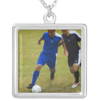 Football (Soccer) 8 Silver Plated Necklace