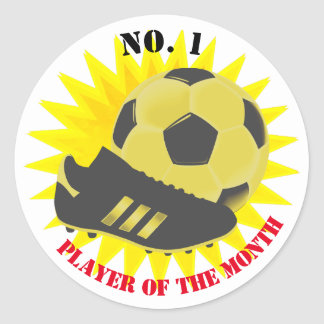 Football Soccer Award Player Reward Round Sticker