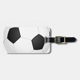 Football - Soccer Ball Luggage Tag