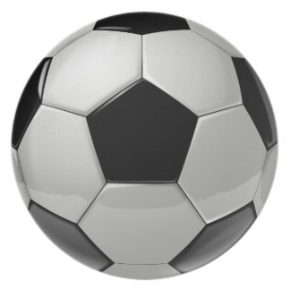 Football Soccer Ball Plate