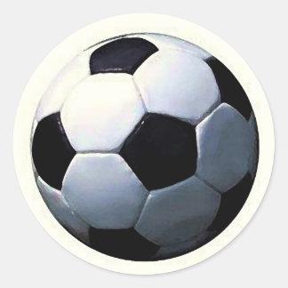 Football - Soccer Ball Round Sticker