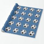 Football Soccer Balls Gift Wrap Paper