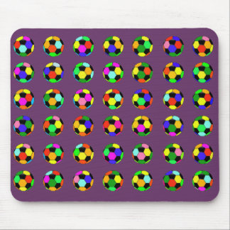football - soccer balls pattern mouse pad