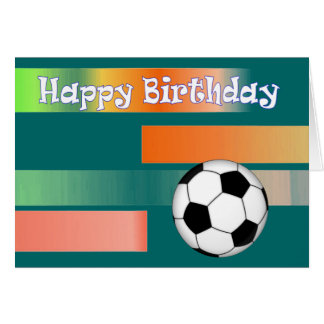 Football Soccer birthday Card
