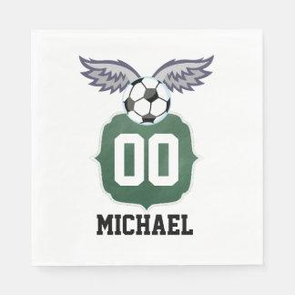 Football/Soccer Birthday Party Personalized Napkin