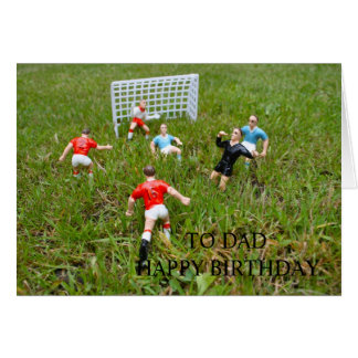 Football/Soccer Match To Dad Happy Birthday Card