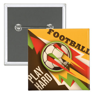 Football Soccer Sport Ball 2 Inch Square Button