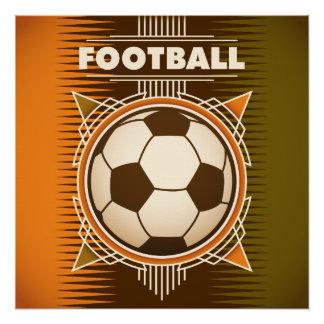 Football Soccer Sport Ball Perfect Poster