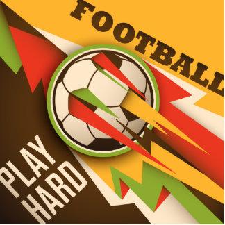 Football Soccer Sport Ball Photo Sculpture Button
