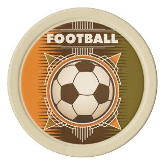 Football Soccer Sport Ball Poker Chip Set