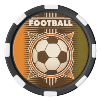 Football Soccer Sport Ball Set Of Poker Chips